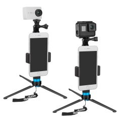 Extendable Aluminum Alloy Selfie Stick with Tripod and Phone Clip